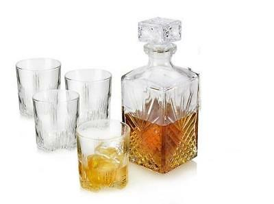 NEW Bormioli Rocco Selecta 5 Pc Whiskey Set - (Decanter & Rocks)