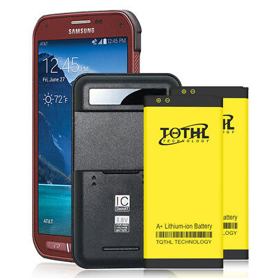 Extra 3200mAh Battery or Wall Charger For AT&T Samsung Galaxy S5 Active SM-G870A