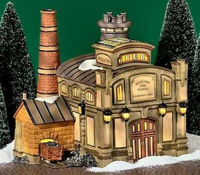 DEPT 56 WILLIAMS GAS WORKS Christmas Snow Village House 58709 LEMAX
