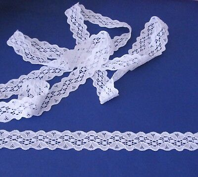 3  metres  of  White   Stretch   lace   25   mm  wide      Great for Headbands