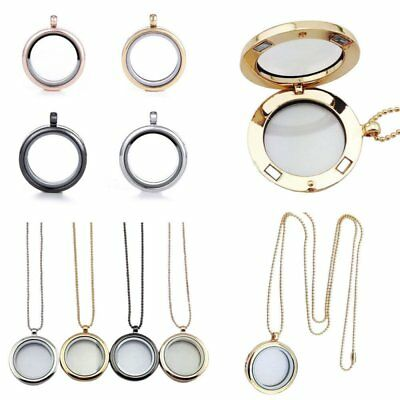 Living Memory for Floating Charms Glass Locket Pendant Necklace Free Chain Gifts