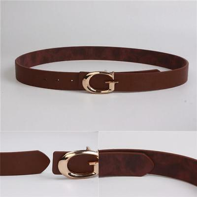 Genuine Leather Thin Belt Gucci Pattern Vintage Buckle 0 9 Dress Gift For Women