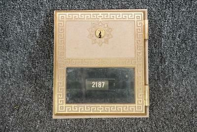 Vintage Brass Auth Elec Post Office Mail Box With Lock & Glass But No Key