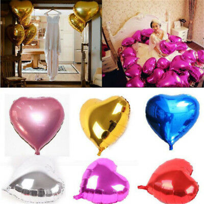 10pcs 10Inch Love Heart Foil Helium Balloons Wedding Party Birthday Decoration