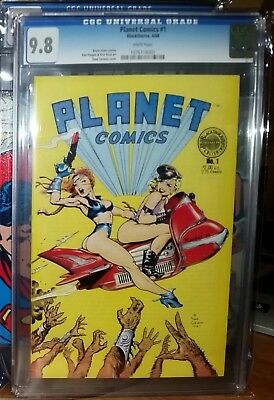 Planet Comics #1 (Blackthorne 1988) Dave Stevens CGC 9.8 NM/MT Hughes Dirty Pair