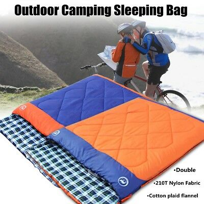 3 in 1 Double Outdoor Camping Sleeping Bag Travel Warming Hiking Thermal Winter