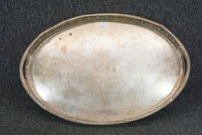 "Sheffield England Silver Plate Footed Oval Platter 22"" Wide"