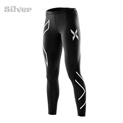 2xu Women's Compression Tights Black with Silver FD0016