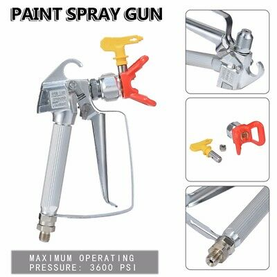 3600PSI Airless Paint Spray Gun & Tip & Guard DIY Paint Tool For TItan Wagner