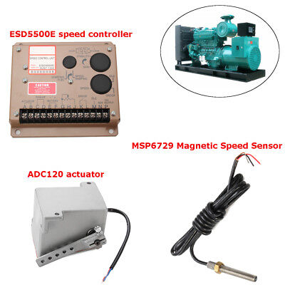12V ADC120 Actuator +ESD5500E speed controller+MSP6729 Magnetic Speed Sensor Set