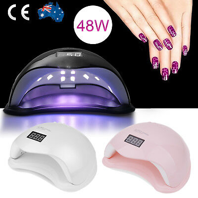 Gel Polish Nail Manicure Kit LED 48W UV Lamp Dryer Timer Sensor Light AU PLUG