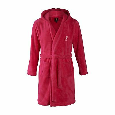Liverpool FC LFC Girls Kids Hooded Towelling Red Bath Robe NWT Official