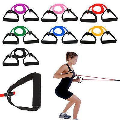 New Resistance Band Set Yoga Pilates Abs Exercise Fitness Tube Workout Bands US