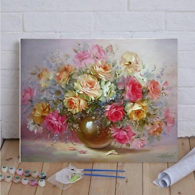 40x50cm Frameless Oil Painting Flowers Picture On Wall Paint By Numbers OL