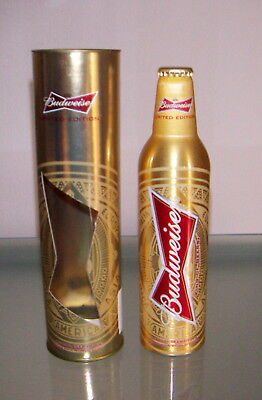 BUDWEISER RARE LIMITED EDITION 2014 WORLD CUP BOTTLE MAI APERTA  con scatola