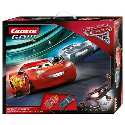 Carrera Go!!! Disney Cars 3 - Need to Compete Slot Car Set 1:43 Scale