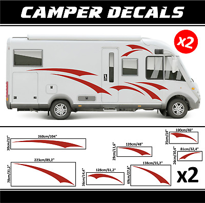 Camper Sticker Kit decals camping-car Caravane Camping Car Bailey Auto Sleeper Hymer Kip