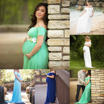 Maternity Long Dresses Photography Photo Prop Pregnant Women Fancy Dress Clothes