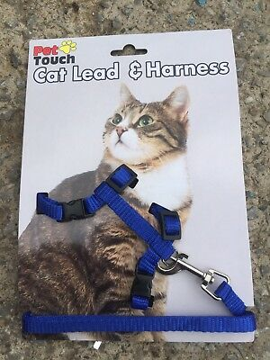 Cat Harness And Lead Set- Blue Brand New/ Pets