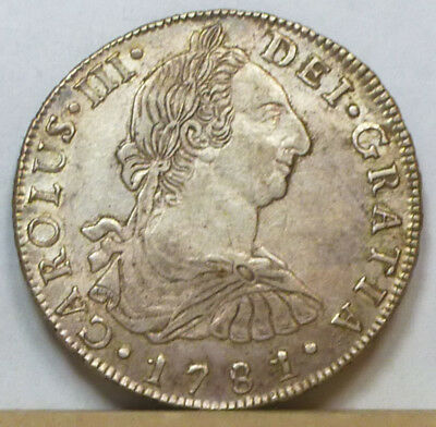 Bolivia 8 Reales 1781 PTS-PR Extremely Fine