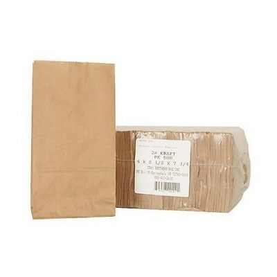 Brown Kraft #2 Paper Bags 1000 ct. Candy Peanut Popcorn Snack Small Items Bag