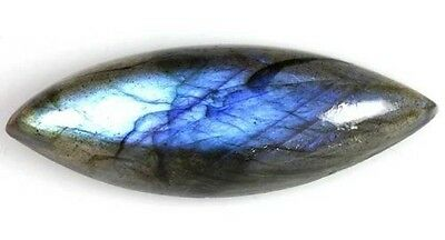 A PAIR OF 10x5mm MARQUISE-CABOCHON NATURAL AFRICAN LABRADORITE GEMSTONES
