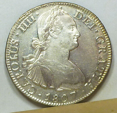 Mexico 8 Reales 1807 Mo-TH EF/Almost Uncirculated