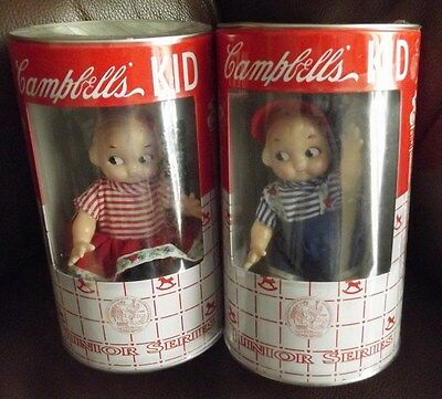 1998 Horsman Campbells Kid Dolls Junior Series Set of 2 - NIC (new in can)