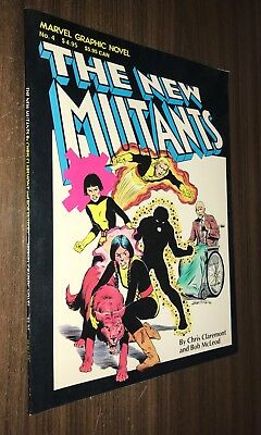 Marvel Graphic Novel #4 -- NEW MUTANTS -- 1st Appearance -- 4th Print -- A