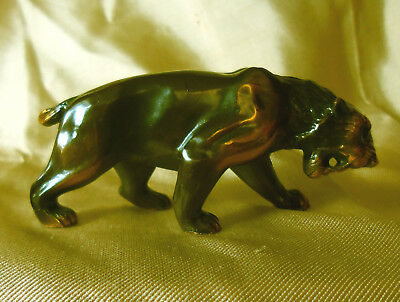 Copper on Metal Lioness Figurine Well Detailed 3""