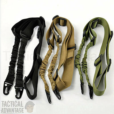 Adjustable 2 Two Point Tactical Rifle Sling Airsoft Paintball Hunting Gun Strap