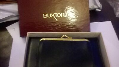 Vintage ladies purse Black 1970's 1980's with calculator By Buxton