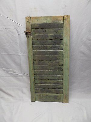 Antique House Window Wood Louvered Shutter Shabby Old Vtg Chic 30x14 69-18P