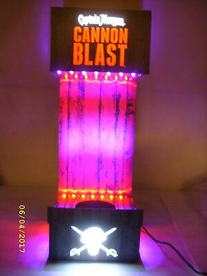 Captain Morgan Cannon Blast Rum - Lighted LED Glorifier Display Stand *NOS*