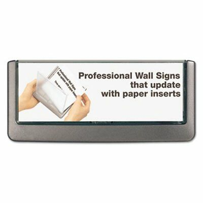 Durable Click Sign Holder For Interior Walls, 6 3/4 x 5/8 x 3, Gray (DBL497637)