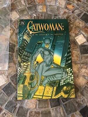 1991 Catwoman: Her Sister's Keeper. DC comic graphic novel. Third Print CANADA.