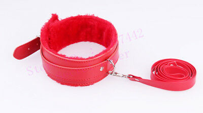 RED Leather BDSM collar  - *FREE* Discreet Postage cosplay adult