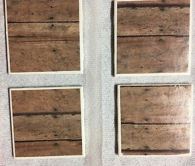 Hand Made in USA Set of 4 Ceramic Tile Coasters