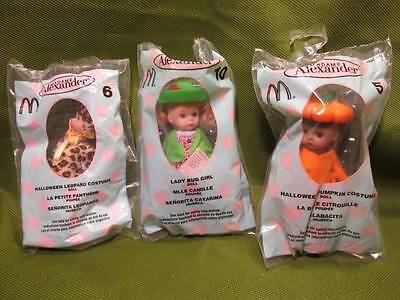 "Dolls ~❤️~ Lot of 3 Madame Alexander 5"" Dolls from McDonald's"