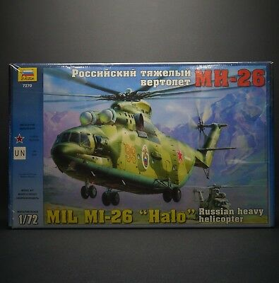 ZVEZDA 7270 Russian Heavy Military Helicopter Mi-26 HALO Scale Model 1/72