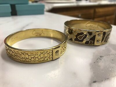 Lot Of Two (2) Coach Bangle Bracelets COACH - NICE!!! - FREE SHIPPING!!!
