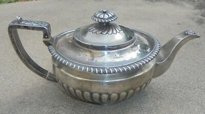 fine antique Georgian sterling silver teapot 1816 James Wintle hallmarks