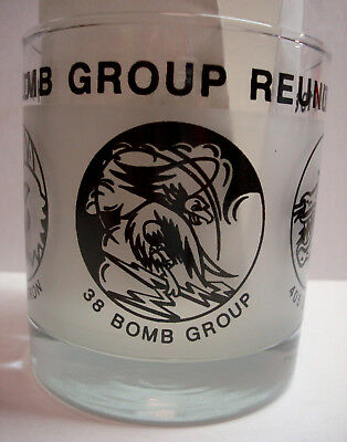 38th Bomb Group - 11oz Old Fashioned Glass - Sun Setters - WW2 Squadron Emblems