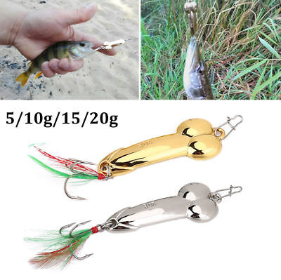 1X Metal Wobble Fish Lures Spoon Lure W/ Feather Bait Hook Fishing Tackle 5g-20g