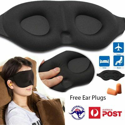 Eye Mask Travel Sleep Soft 3D Memory Foam Padding Shade Softest and Best Design
