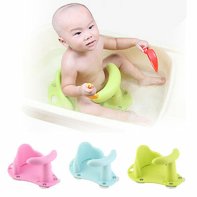 New Baby Bath Tub Ring Seat Infant Child Toddler Kids Anti Slip Safety Chair CU