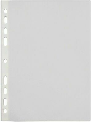 Tiger A4 strong transparent poly punched pockets x 100 sleeves/wallets 1 pack