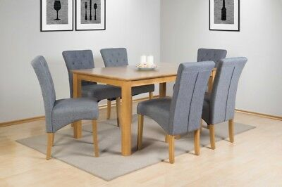 SOLID WOOD RECTANGULAR DINING TABLE ON ITS OWN 150cm X 90cm NATURAL OAK FINISH