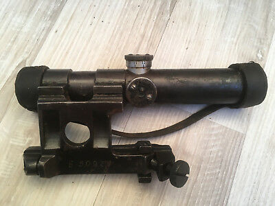 Original Russian Mosin-Nagant 91/30 PU (SVT) Sniper Scope 1943 WWII MOUNT&CAPS