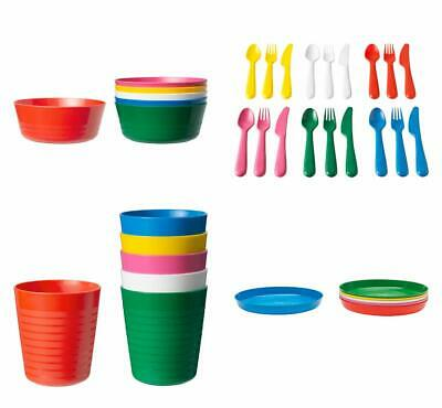 Ikea Kalas Children's Kids Plastic Bowls Cups Plates Cutlery Set or Individual